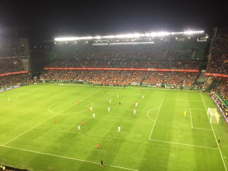 Seating view for Estadio Benito Villamarin Section 19 Row 8 Seat 170
