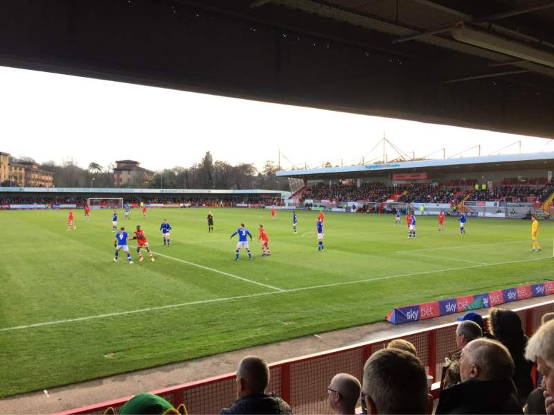 Seating view for Broadfield Stadium Section Away Terrace Row Back Row