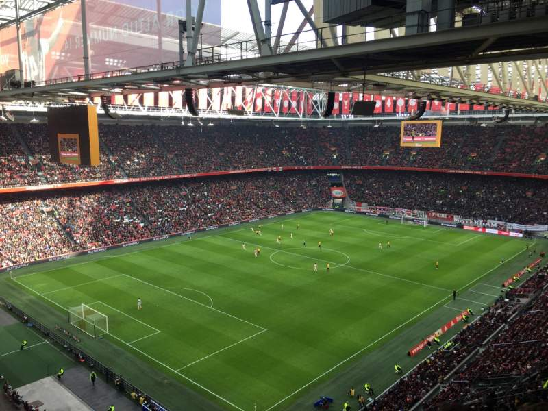 Seating view for Amsterdam Arena Section 409 Row 24 Seat 80