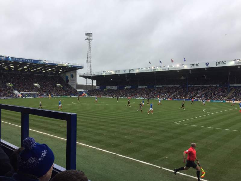 Seating view for Fratton Park Section MMD Row BB Seat 69