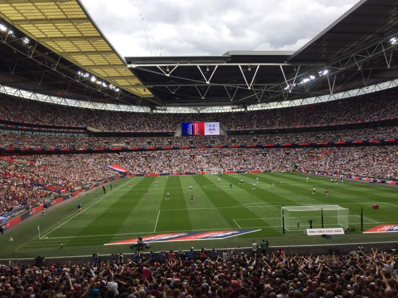 Seating view for Wembley Stadium Section 135 Row 34 Seat 36