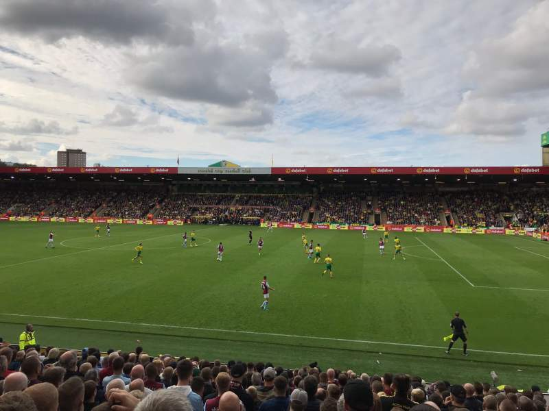 Seating view for Carrow Road Section H Row R Seat 60