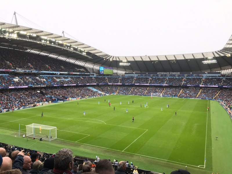Seating view for Etihad Stadium (Manchester) Section 213 Row L Seat 340