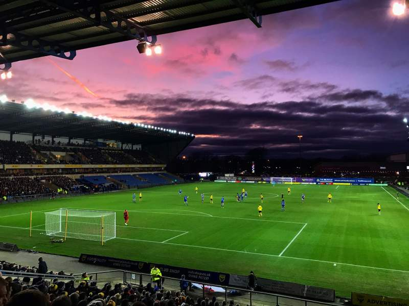 Seating view for Kassam Stadium Section 20 Row W Seat 132