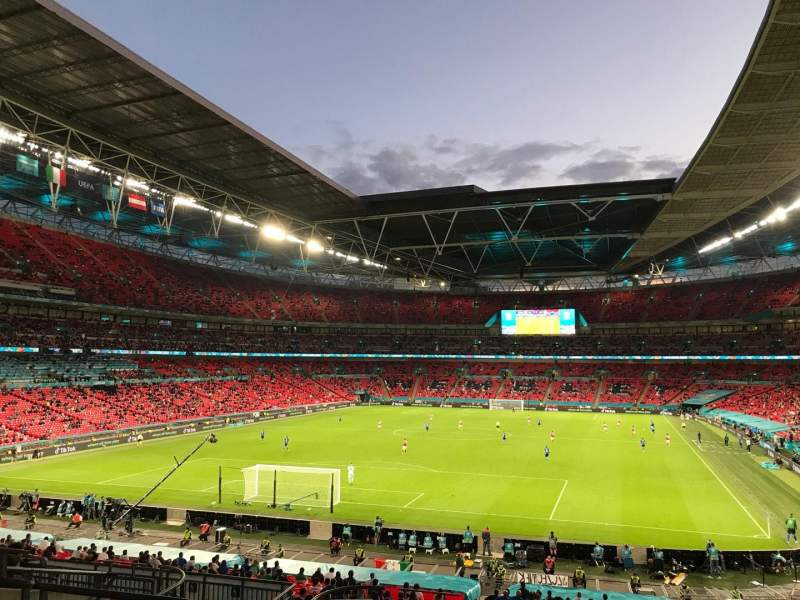 Seating view for Wembley Stadium Section 110 Row 41 Seat 219