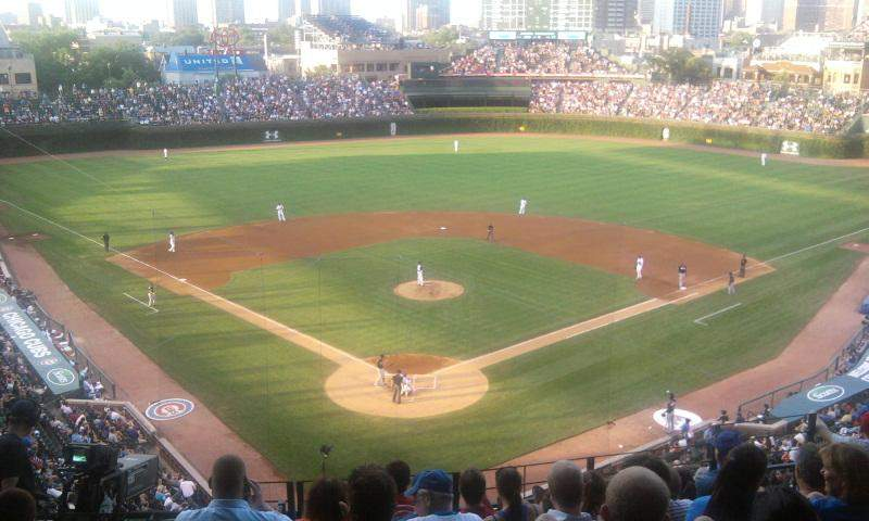 Seating view for Wrigley Field Section 318R Row 8 Seat 8