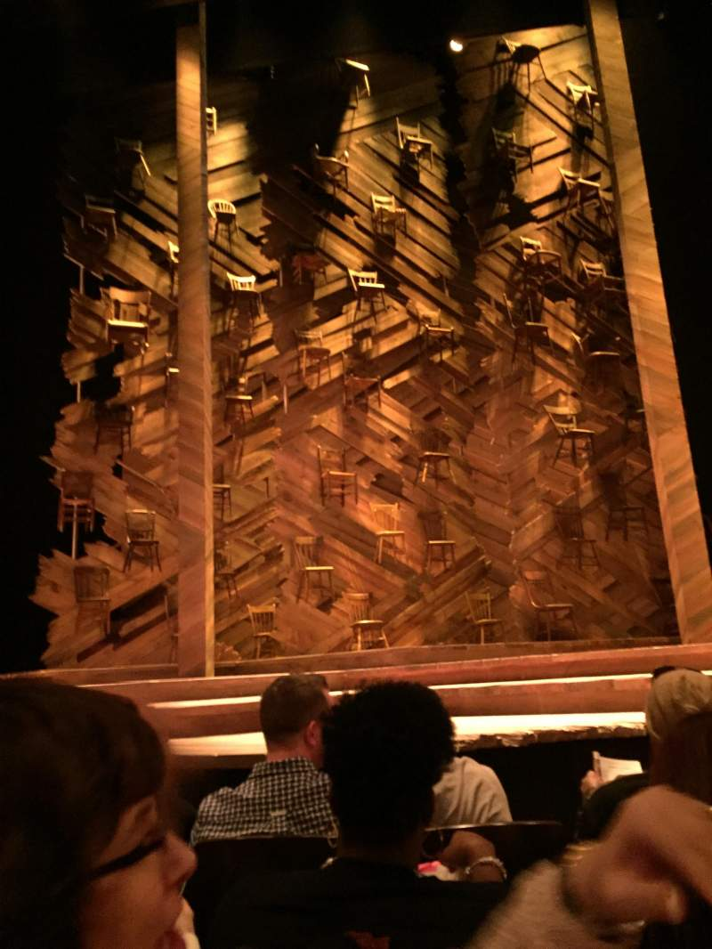 Seating view for Bernard B. Jacobs Theatre Section Orchestra Row C Seat 107