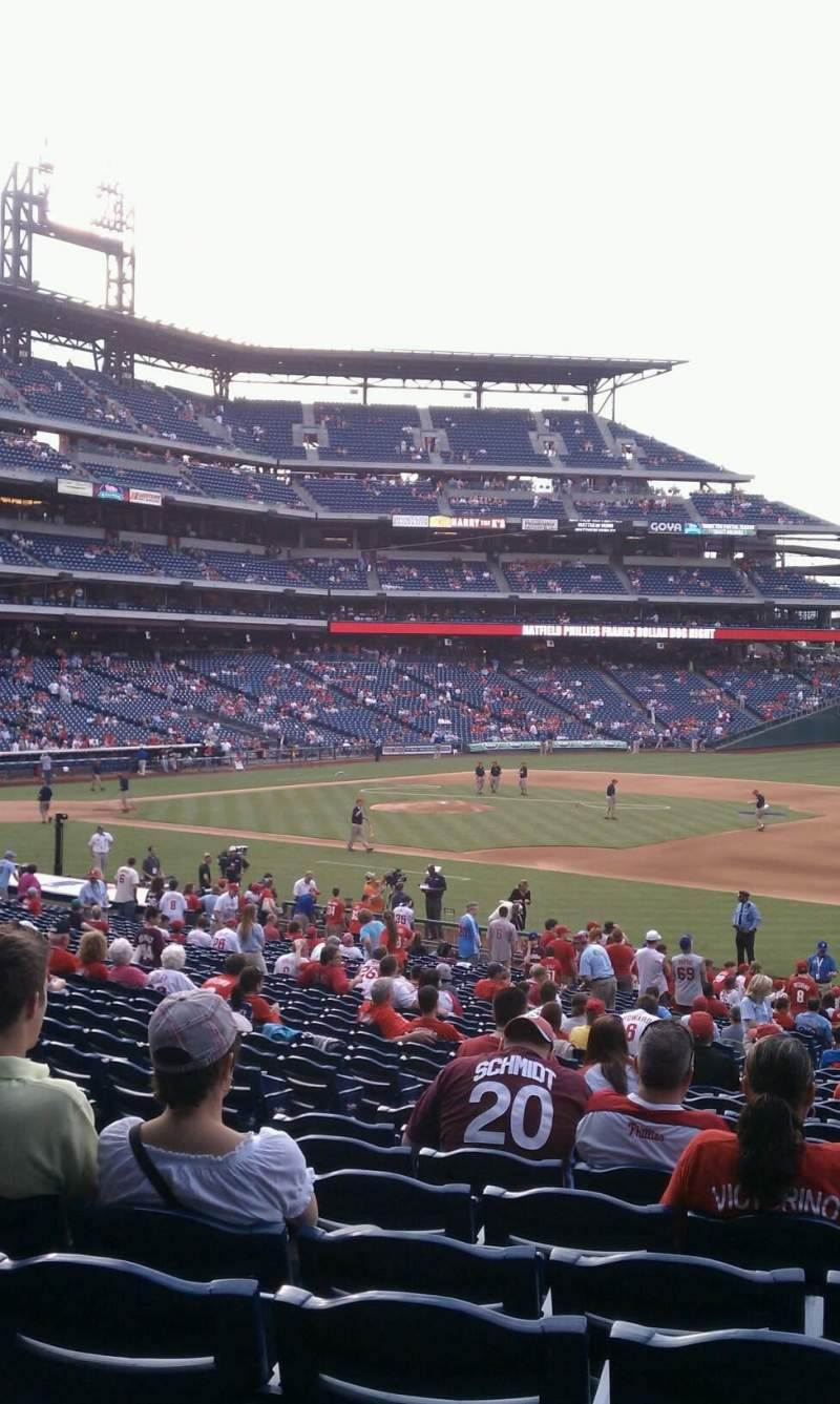 Seating view for Citizens Bank Park Section 113 Row 33 Seat 15