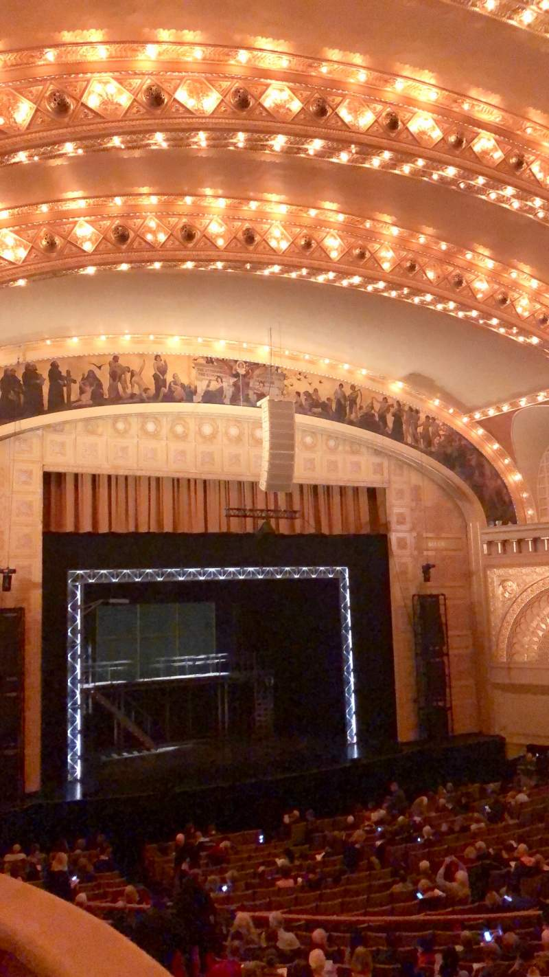 Seating view for Auditorium Theatre Section UBXL9 Row 1 Seat 1