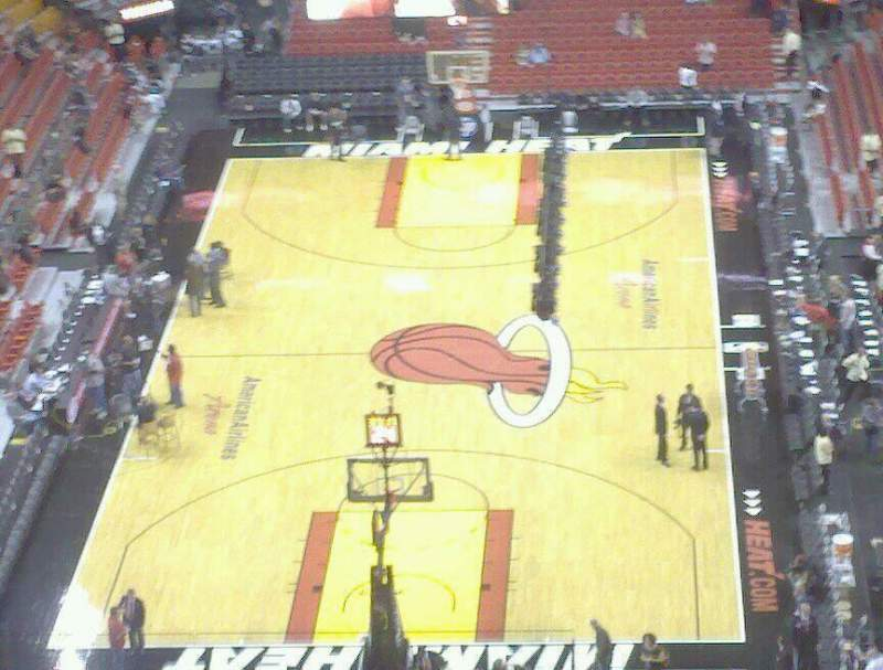 Seating view for American Airlines Arena Section 414