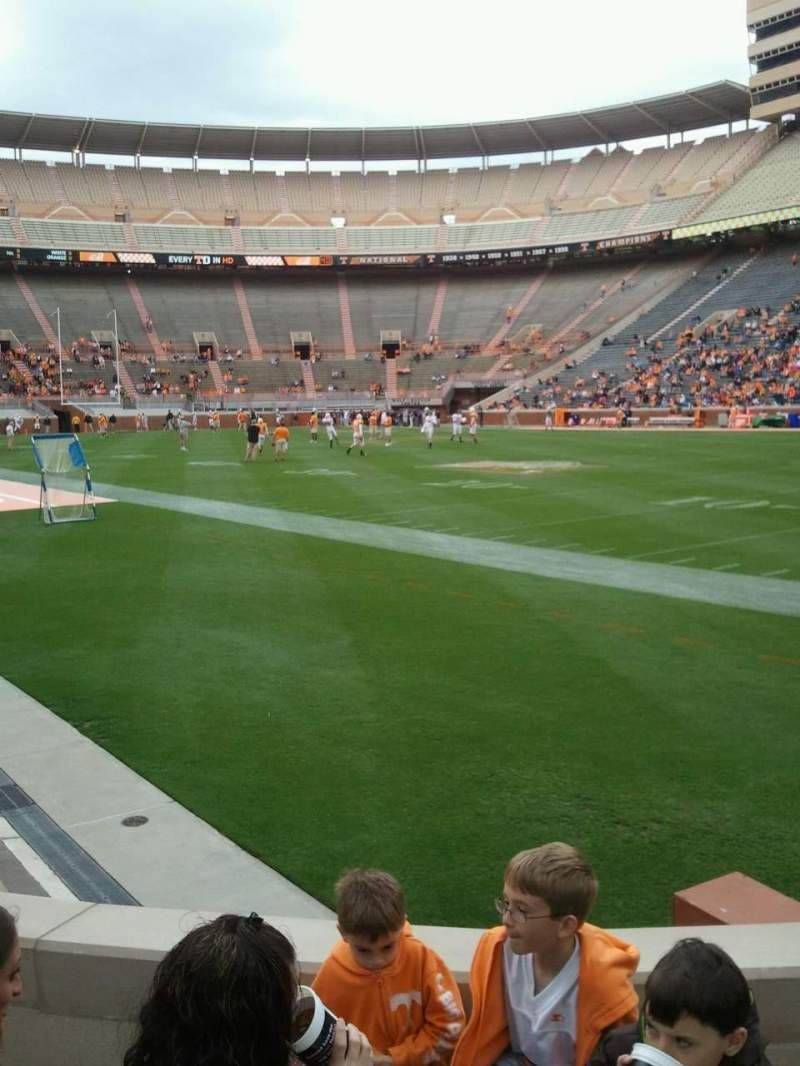 Seating view for Neyland Stadium Section P Row 3 Seat 8