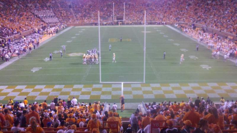 Seating view for Neyland Stadium Section Y8 Row 27 Seat 16