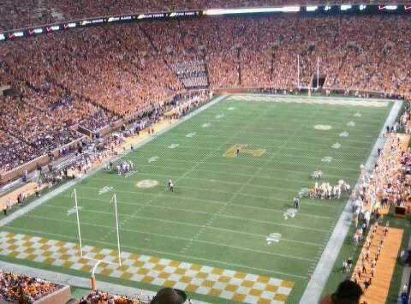 Seating view for Neyland Stadium Section YY6