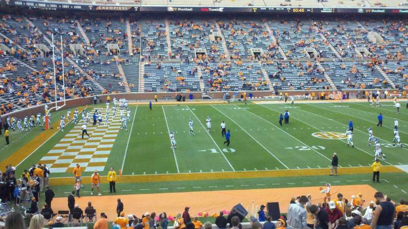 Seating view for Neyland Stadium Section F Row 30 Seat 26