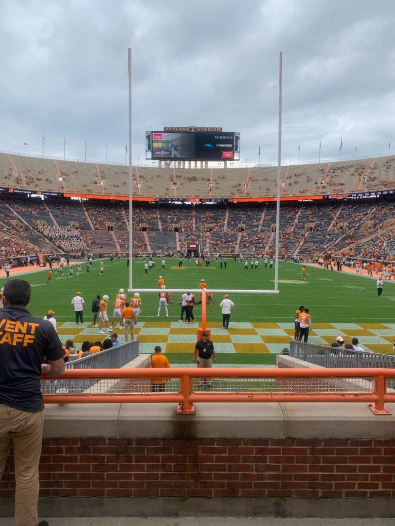 Seating view for Neyland Stadium Section Y9 Row 4 Seat 1