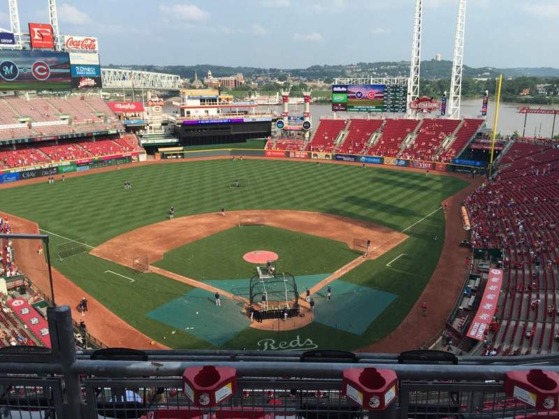 Seating view for Great American Ball Park Section 523 Row B Seat 13