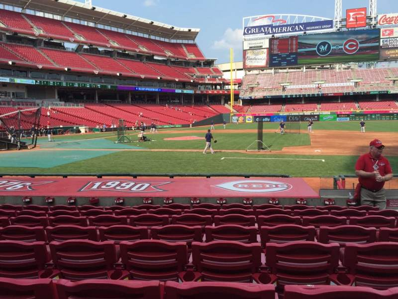 Seating view for Great American Ball Park Section 130 Row M Seat 5