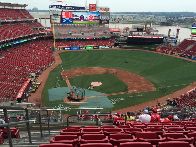 Seating view for Great American Ball Park Section 527 Row K Seat 22