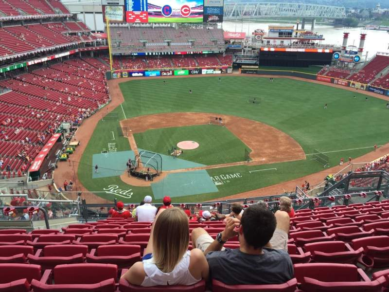 Seating view for Great American Ball Park Section 527 Row K Seat 14