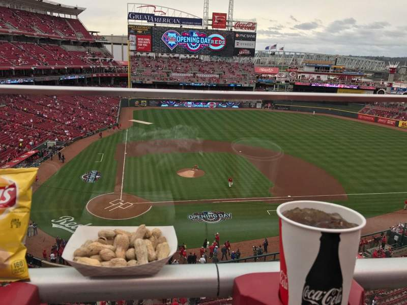 Seating view for Great American Ball Park Section 428 Row A Seat 15