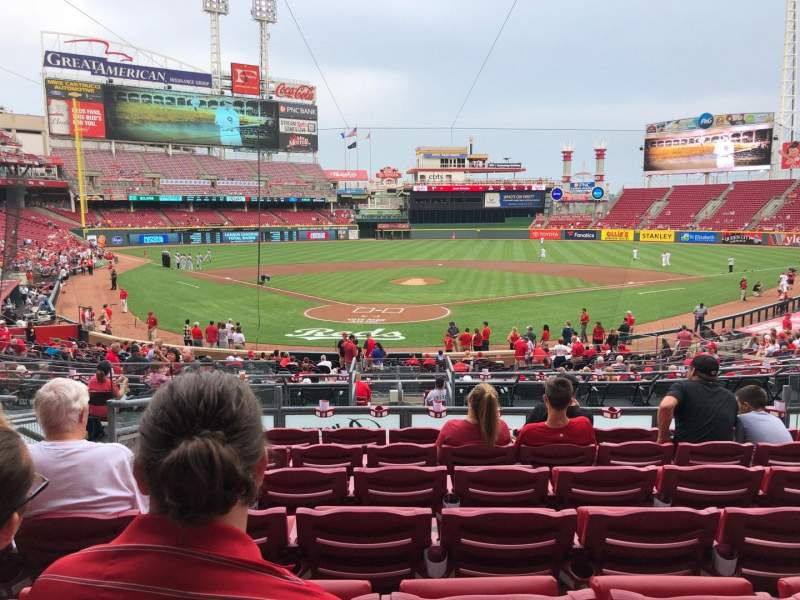 Great American Ball Park, section: 124, row: G, seat: 9