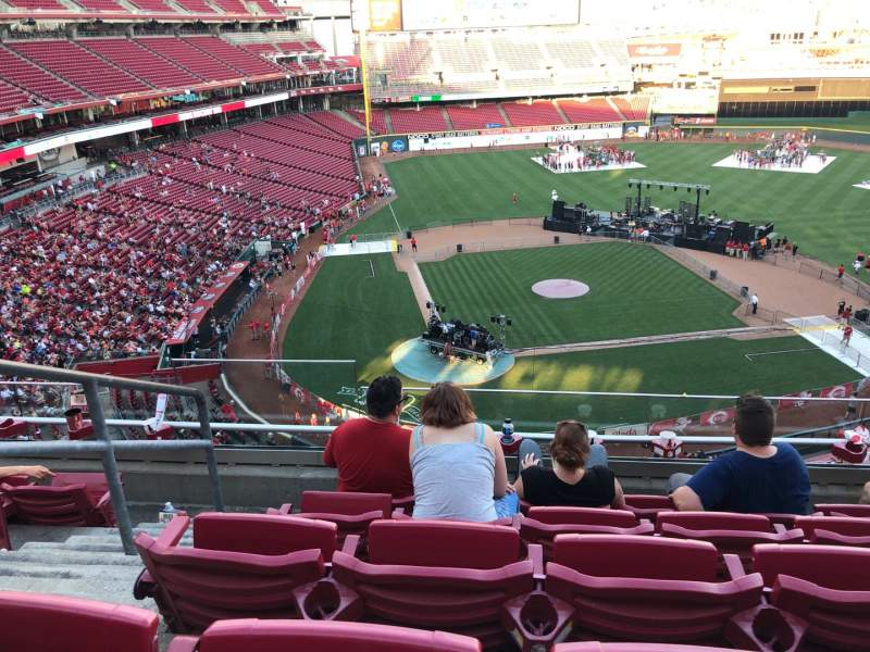 Seating view for Great American Ball Park Section 427 Row E Seat 16
