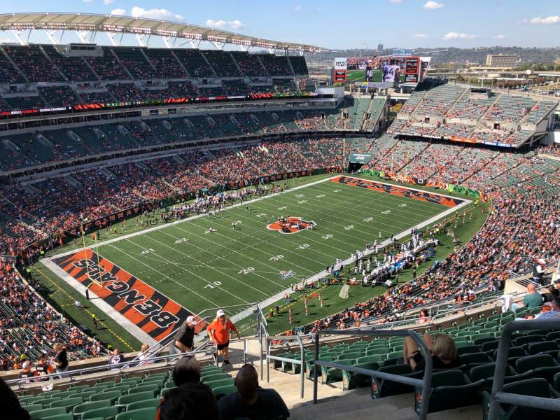Seating view for Paul Brown Stadium Section 347 Row 24 Seat 1