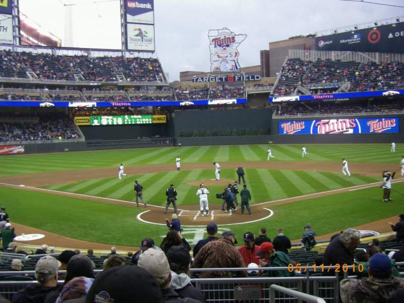 Seating view for Target Field Section 114 Row 7
