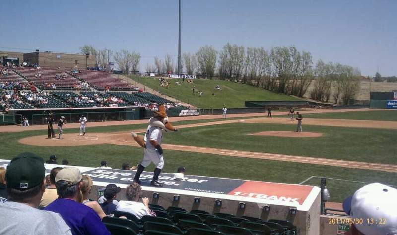 Seating view for UCHealth Park Section 118 Row L Seat 118