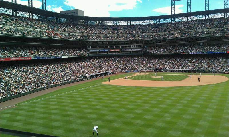 Seating view for Coors Field Section 204 Row 1 Seat 20