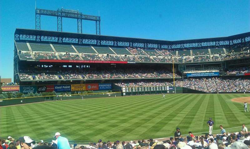 Seating view for Coors Field Section 147 Row 24 Seat 10