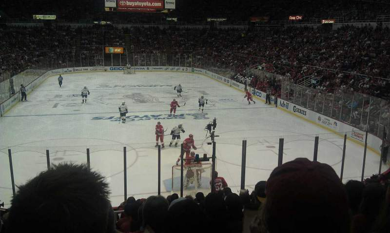 Seating view for Joe Louis Arena Section 101 Row 17 Seat 7