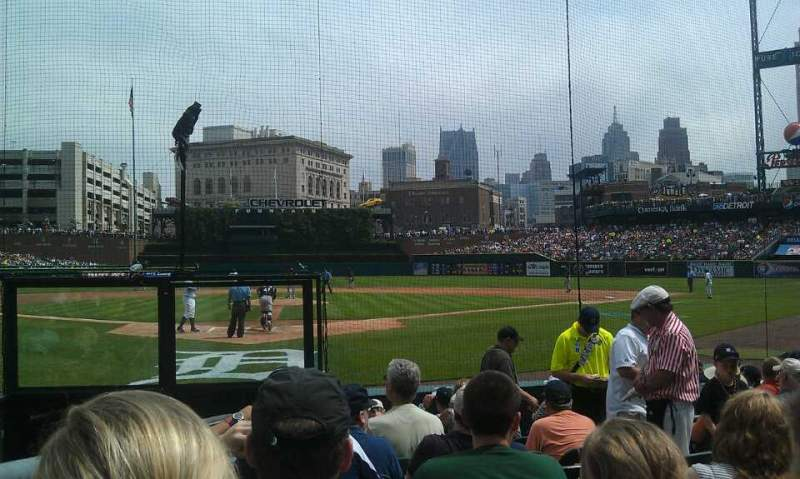 Seating view for Comerica Park Section 127 Row 11 Seat 6
