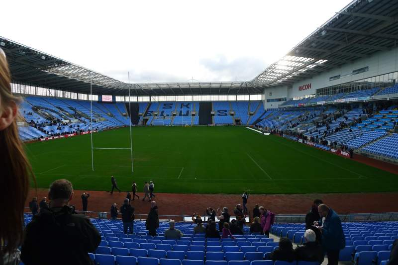 Seating view for Ricoh Arena Section 30 Row V Seat 5
