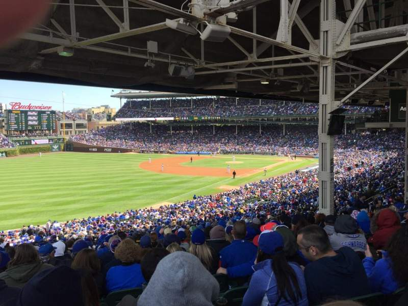 Seating view for Wrigley Field Section 202 Row 27 Seat 7