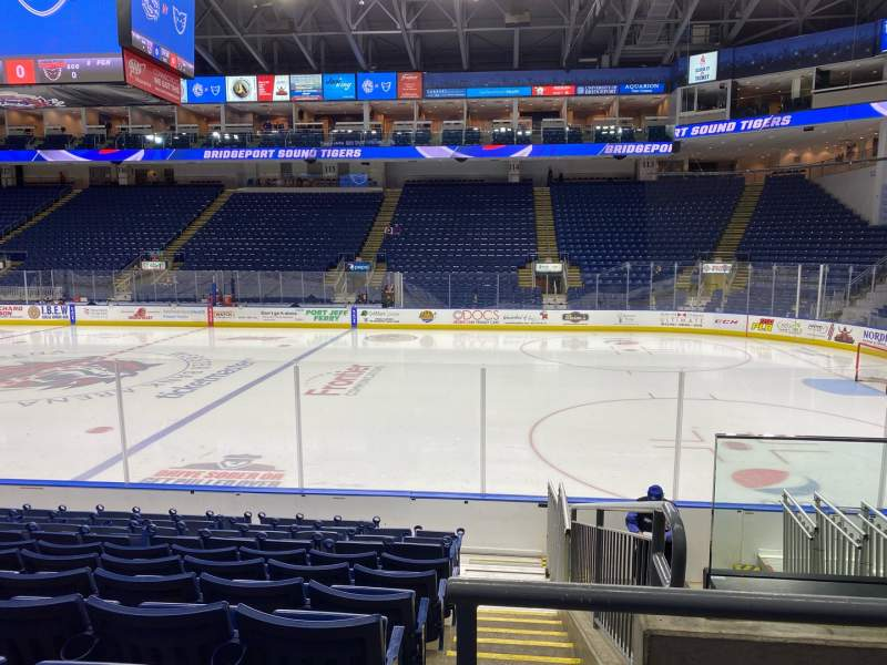 Seating view for Webster Bank Arena Section 106 Row G Seat 7