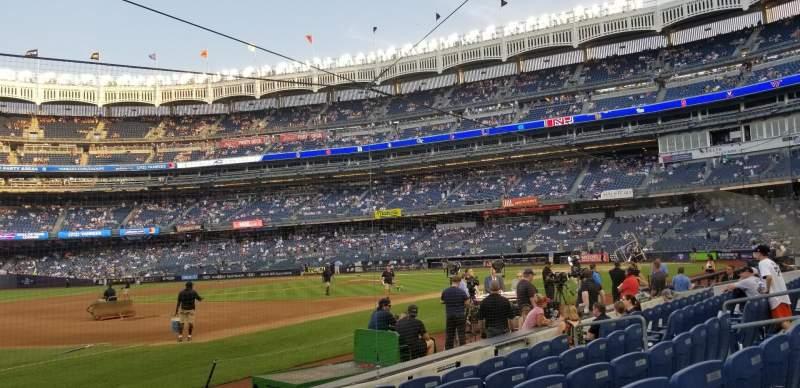 Yankee Stadium, section: 027B, row: 6, seat: 1 and 2