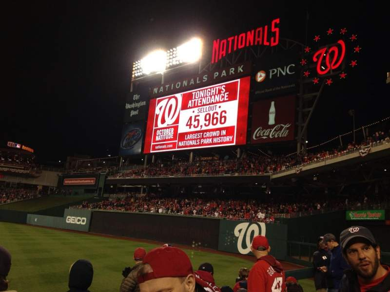 Seating view for Nationals Park Section 136 Row J Seat 14
