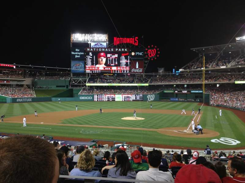 Seating view for Nationals Park Section 119 Row L Seat 3