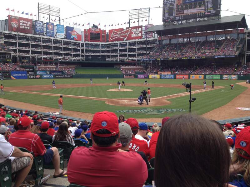 Seating view for Globe Life Park in Arlington Section 25 Row 13 Seat 2