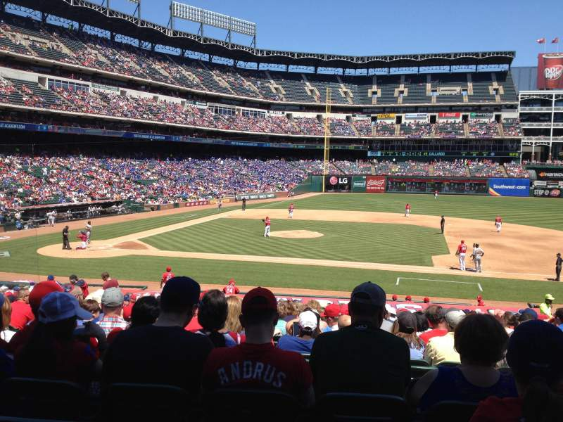 Seating view for Globe Life Park in Arlington Section 33 Row 25 Seat 8