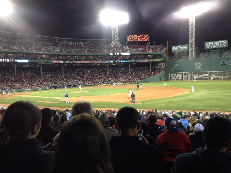 Seating view for Fenway Park Section Loge Box 101 Row KK Seat 7
