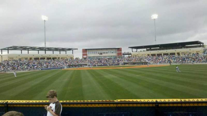 Seating view for Blue Wahoos Stadium Section Outfield berm