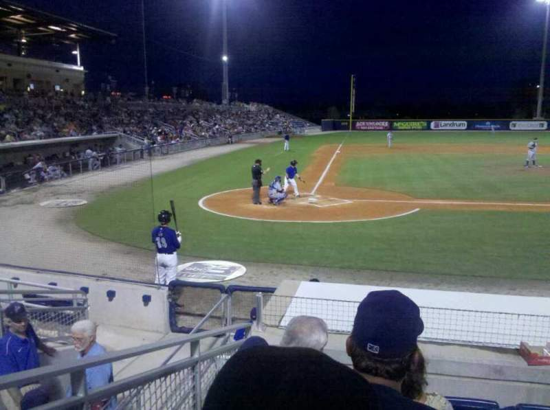 Seating view for Blue Wahoos Stadium Section 104 Row L Seat 12