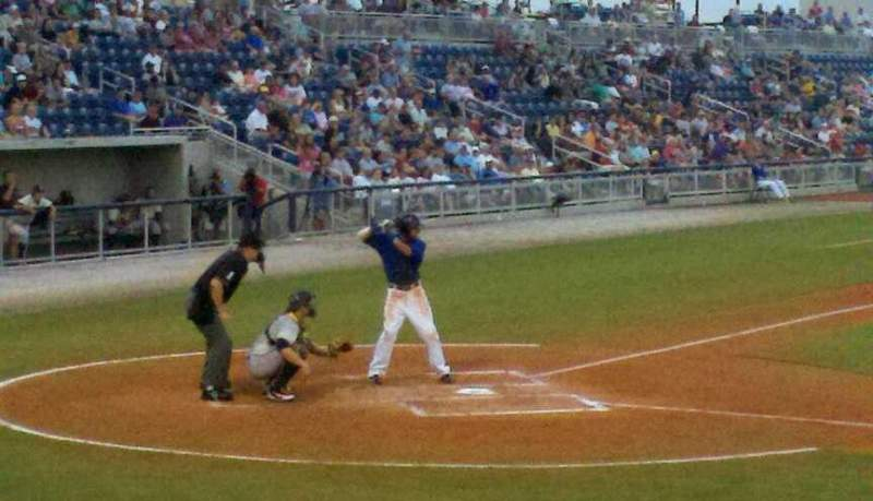 Seating view for Blue Wahoos Stadium Section 106 Row G Seat 119