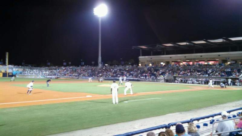 Seating view for Blue Wahoos Stadium Section 109 Row E Seat 11