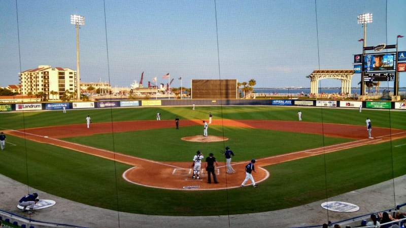 Seating view for Blue Wahoos Stadium Section 100