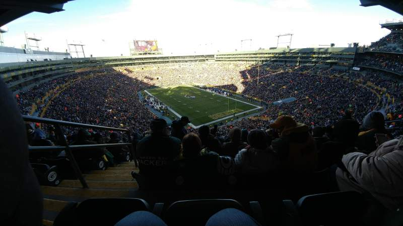Seating view for Lambeau Field Section 640s Row 10 Seat 2