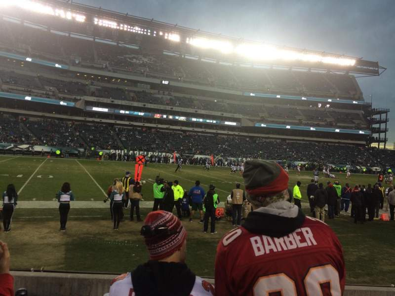 Seating view for Lincoln Financial Field Section 116 Row 1 Seat 13