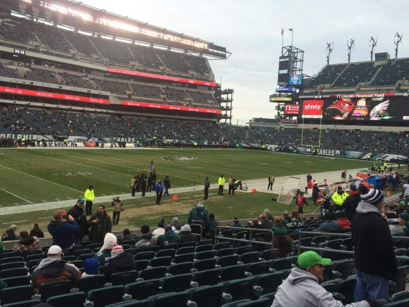 Seating view for Lincoln Financial Field Section 116 Row 14 Seat 12